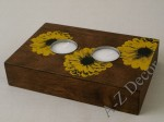 TOURNESOL T-light holder with flower 32cm [003356]