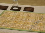 Straw table placemat in Autumn colors [AZ00867]