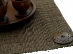 Brown raffia placemat 33x48cm [AZ00660]