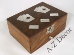 Wooden decorated box with domino and cards [AZ01561]