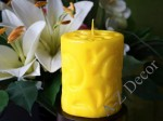 Yellow pillar Fiorentino candle 10cm [AZ02185]