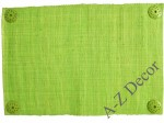 Lime raffia placemat with coconut wheels [AZ00437]