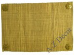 Decorated honey raffia table placemat [AZ00663]