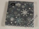 Navy blue Christmas paper napkins with snowflakes [AZ01333]