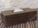 CROCO artificial leather tissue box 28cm [AZ00706]