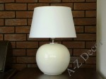 Ivory OSCAR bedroom lamp 48cm [AZ02703]