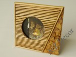 Decorated photo frame with round window [AZ00104]