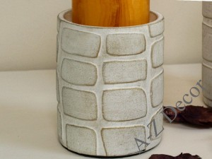 Earthenware candle holder 12cm [AZ01124]