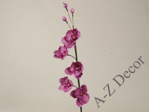 Plum-colored artificial orchid 104cm [AZ01693]