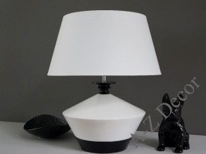 Ceramic with wood WENDA table lamp 55cm [AZ02547]