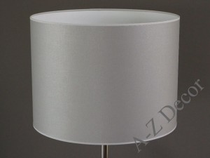 Silver cylindrical lampshade 50x37cm [008812]