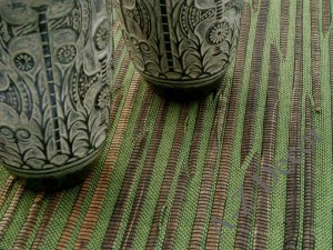 Green and brown abaca table placemat [AZ01511]