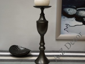 Black metal candle holder 56cm [AZ01957]