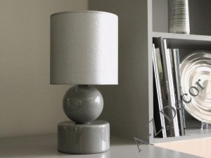 Gray PERLA I bedroom lamp 39cm [AZ02416]