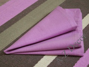 AFRICAN VIOLET cotton napkins 4 pieces [AZ02117]