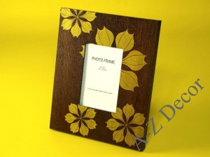 Photo frame with poinsetia motif 28cm[002957]