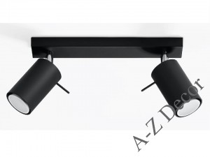 Double HECTOR ceiling lamp black [001344]