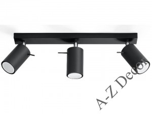 Triple HECTOR ceiling lamp black [001346]