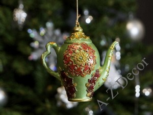 Green tea-pot TEA TIME collection 9cm [AZ01608]