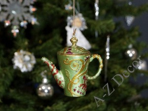 TEA TIME collection - green tea-pot 8cm [AZ01609]