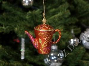 TEA TIME collection - orange tea-pot 8cm [AZ01610]