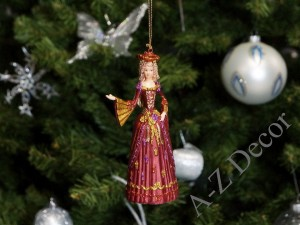 Lady Elizabeth hanging Christmas ornament [AZ01624]
