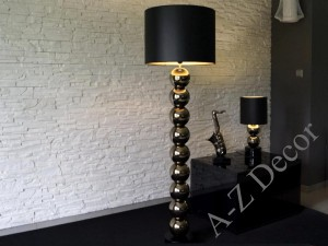 Black and gold PERLA IX floor lamp for the living room 170cm [AZ02690]