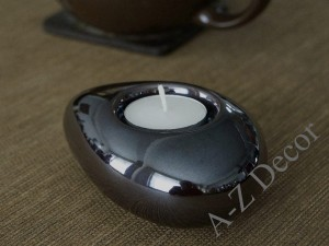Ceramic T-light holder 12cm [AZ02031]