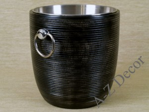 Wooden container for champagne with handles 24cm [AZ00527]