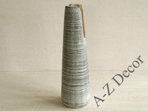 Wooden vase with cut 26cm [002900]