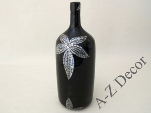 Black decorated ceramic vase 42cm [AZ01412]