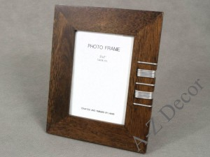 Decorated photo frame from ficus wood [AZ01804]