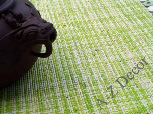 Green and lime raffia table placemat [AZ01515]