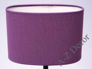 Violet oval lampshade 25x16x17cm [008578]