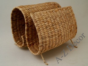 Natural color water hyacinth paper rack [AZ00728]