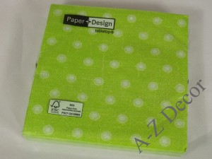 Green paper napkins with wheels [AZ01450]