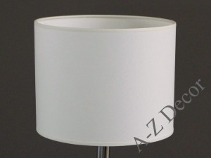 White cylindrical lamphade 25x20cm [008566]