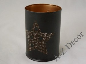 Cylindrical metal candle holder 14cm [AZ02170]