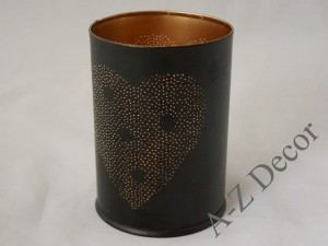 Black metal candle holder 14cm [AZ02169]