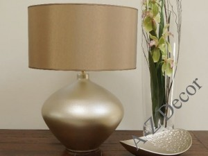 Light gold LUCIA ceramic table lamp 56cm [AZ02074]