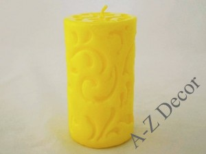 Yellow pillar Fiorentino candle 15cm [AZ02184]
