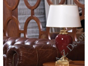 Ruby red SANSSOUCI table lamp 51cm [AZ02262]