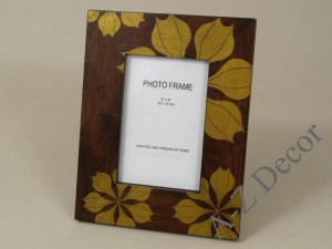 ESTRELLA photo frame 18x23cm with printed poinsetia [002824]