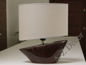 Brown MARINA bedroom lamp 36cm [AZ02323]