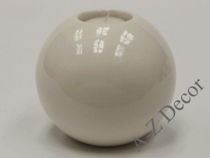 Cream ceramic T-light holder 13cm [AZ02317]