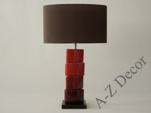 Red CHANELA table lamp 61cm [AZ02329]