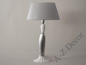 White and silver JENA table lamp 79cm [AZ02336]