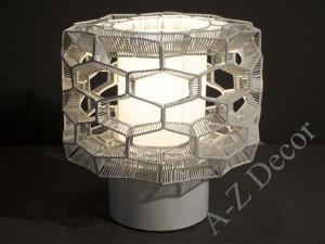 HONEY COMB white table lamp 23cm [AZ02310]