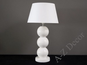 White PERLA III table lamp 71cm [AZ02426]