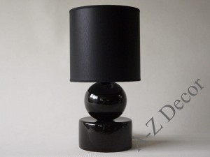 Black PERLA I bedroom lamp 39cm [AZ02341]